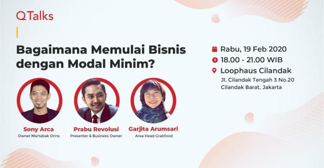 Event QTalks Qasir: Bagaimana Memulai Bisnis dengan Modal Minim